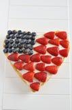 美国独立纪念日蛋糕 免版税图库摄影