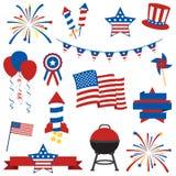 美国独立纪念日项目的传染媒介汇集 库存图片