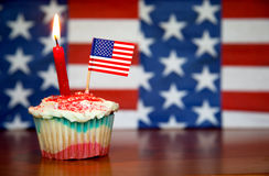 美国生日愉快的左 免版税图库摄影