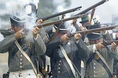 美国生火步兵 免版税库存照片