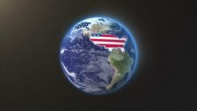 美国疆土地球 向量例证