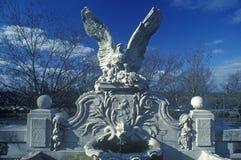 美国白头鹰,纽约, NY雕象  图库摄影
