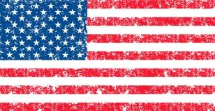 美国的传染媒介旗子正式颜色的 库存照片