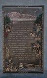 美国的匾美丽在派克的峰顶,科罗拉多山顶  库存图片