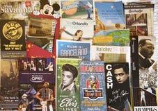 美国的南方的音乐拼贴画 免版税库存图片