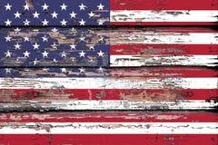 美国的国旗木背景的 免版税库存图片