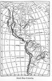 美国的地图从葡萄酒书百科全书Britannica的由A 免版税库存照片