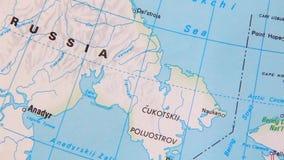 美国的地形图。俄罗斯-美国 股票录像