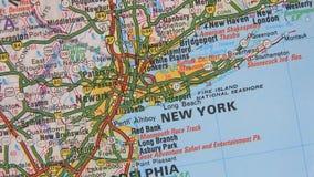 美国的地形图。纽约 股票视频