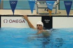 美国的奥林匹克冠军瑞安・洛赫特在里约以后2016年奥运会的人的200m个体混合泳的 库存图片