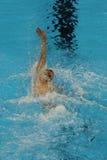美国的奥林匹克冠军迈克尔・菲尔普斯竞争在里约2016年奥运会的人的200m个体混杂的人群 库存图片