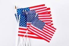 美国的小旗子的汇集 库存照片