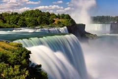 从美国的尼亚加拉瀑布,风景视图 长期风险 图库摄影