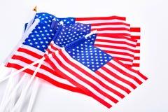 美国的微型旗子的汇集 图库摄影