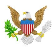 美国的总统的封印隔绝了 皇族释放例证