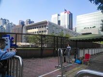 美国的总领事馆在广州 免版税库存图片