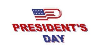 美国的愉快的总统Day 模板与文本和美国旗子的设计元素 免版税图库摄影