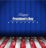美国的愉快的总统的Day抽象墙纸 免版税库存照片