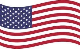 美国的挥动的旗子 库存例证