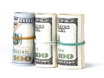 美国的捆绑100美元钞票 图库摄影