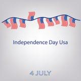 美国的旗子有题字的 旗子诗歌选  美国独立日美国 7月4日 也corel凹道例证向量 免版税库存图片
