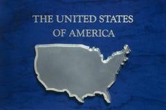 美国的映射银的 库存照片