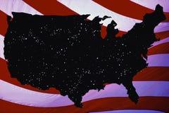 美国的映射 库存照片