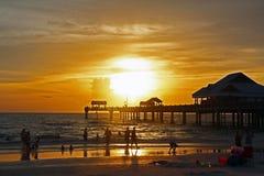 从美国的海滩 免版税库存照片