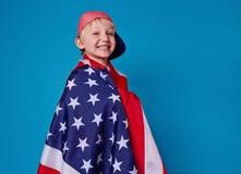从美国的男孩 库存照片