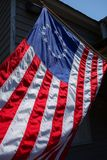 美国的第一面旗子有13星的 图库摄影