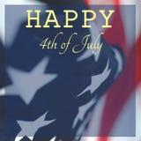 美国的美国独立日祝贺的照片  免版税库存照片