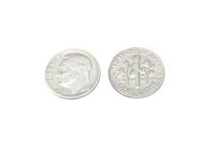 美国的老硬币1962年 免版税库存图片