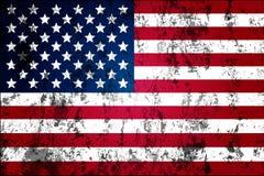 美国的肮脏的被佩带的旗子 免版税库存图片