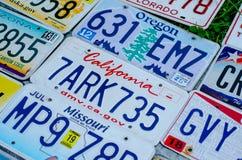 美国的车辆注册板材 免版税库存图片