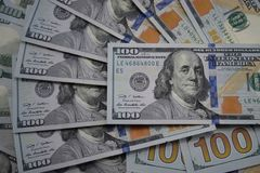 美国的100美元钞票 库存图片