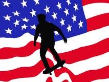 美国看板卡溜冰者向量 免版税库存图片
