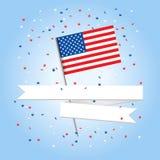 美国看板卡问候 免版税图库摄影