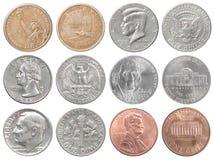 美国硬币收集 免版税库存照片