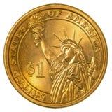 美国硬币美元一 库存照片