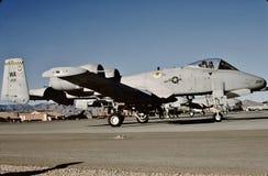 美国空军共和国费尔柴尔德在Nellis AFB的A-10A 80-200 免版税图库摄影