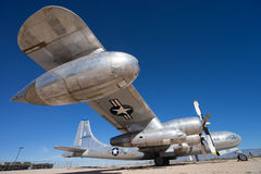美国空军葡萄酒军用飞机 免版税库存照片