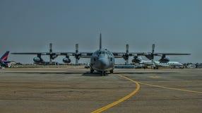 美国空军赫拉克勒斯C-130 免版税图库摄影