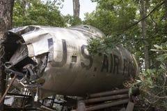 美国空军队喷气式歼击机崩溃 图库摄影