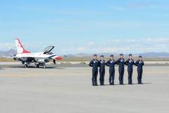 美国空军队雷鸟飞行员 免版税库存图片