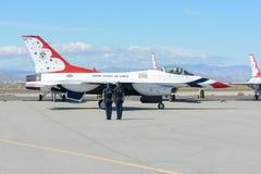 美国空军队雷鸟 图库摄影