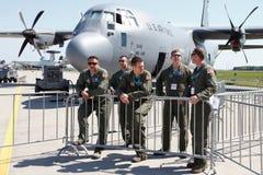 美国空军队C-130赫拉克勒斯 免版税库存照片