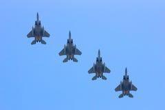 美国空军队F-15老鹰乐队 免版税库存照片