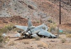 美国空军队F-16航空器失事地点 免版税图库摄影
