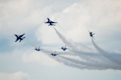 美国空军雷鸟三角洲爆炸 免版税图库摄影