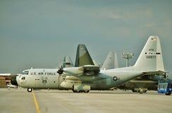 美国空军洛克希德WC-130H 65-0977 CN 382-4127 免版税图库摄影